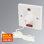 MK 50A Pull Cord Switch with Neon