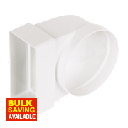 Manrose Rectangular Appliance Connector White 100mm