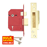 "Union BS 5-Lever Mortice Sashlock Brass 3"" / 76mm"