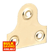Plain Mirror Plates Electro Brass 38 x 38 x 38mm Pack of 10
