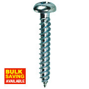 "Quicksilver Twin Thread Roundhead Prodrive Recess Woodscrews 8 x 5/8"" Pk200"