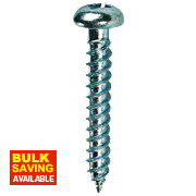 "Quicksilver Twin Thread Roundhead Prodrive Recess Woodscrews 8 x 2"" Pk200"