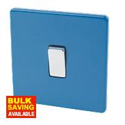 Varilight 1-Gang 2-Way 10AX Switch Cobalt Blue
