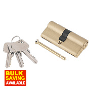 Smith & Locke 5-Pin Euro Double Cylinder Lock 35-35 (70mm) Brass