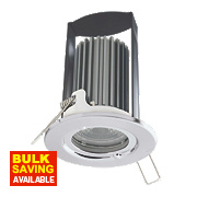 British General 30, 60 & 90min Fire Rated Fixed LED Downlight IP65 Polished Chrome 7W