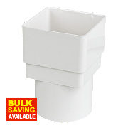 Square Line Drainage Adaptor 65mm White