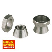 Security Shear Nuts A2 Stainless Steel M8 Pack of 10