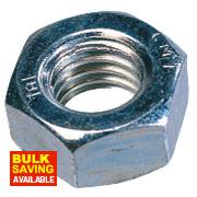 Easyfix Hex Nuts BZP Steel M6 Pack of 1000