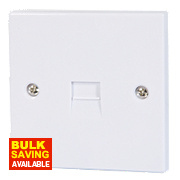 1 Gang Flush Fitting Telephone Slave Socket