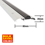Stormguard Compression Draught Excluder Aluminium 914mm