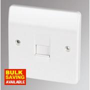 MK 1-Gang Master Telephone Socket White