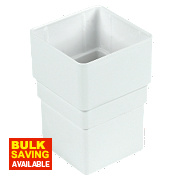 Square Line Drainage Socket 65mm White
