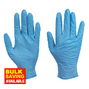 Skytec Utah Nitrile Powder-Free Disposable Gloves Blue Large Pk100