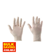 Clean Grip 100% Latex Disposable Gloves White Large Pk100