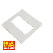 Manrose Rectangular Wall Plate White 100mm