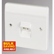 MK 1-Gang TV/FM Coaxial Socket White