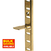 Bookcase Supports Electro Brass 16 x x mm Pack of 10