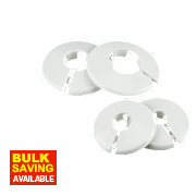 Pipe Collar 10mm White Pack of 10