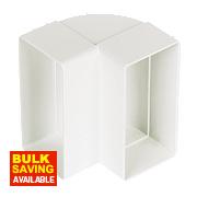 Manrose Vertical 90° Bend White 100mm