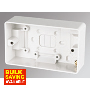 MK 2-Gang Surface Pattress Box White 44mm