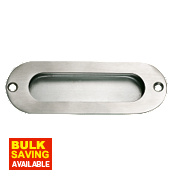 Flush Pulls 120mm Satin Stainless Steel
