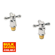 Swirl Traditional Bath Tap Reviver Kit Pair Chrome ¾""