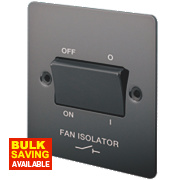 LAP 10A 3-Pole Fan Isolator Switch Black Nickel