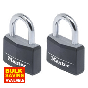 Master Lock Keyed Alike Padlocks Aluminium 40mm Pack of 2
