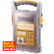 TurboGold Woodscrews Trade Grab Pack Double-Self-Countersunk 1000Pcs