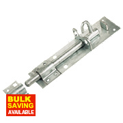 Heavy Brenton Lockable Pad Bolt Galvanised 200mm