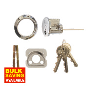 ERA Night Latch Replacement Cylinder Chrome 32.5mm