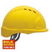 JSP EVO 3 Micro Peak Vented Helmet Yellow