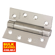 Eclipse Adjustable Self-Closing Hinges Satin Stainless Steel 76 x 102mm Pack of 2