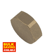 BSP Brass Female Cylinder Blank 1""