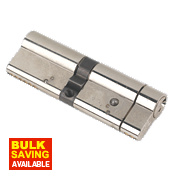Yale Anti-Snap Euro Double Cylinder Lock 50-45 (95mm) Brushed Nickel