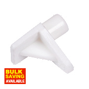 White Shelf Support Pack of 100