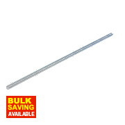 Easyfix Bright Zinc-Plated Steel Threaded Rods M10 x 300mm 5 Pack