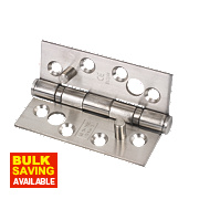 Eclipse Grade 13 Security Hinges Satin Stainless Steel 76 x 102mm Pack of 2