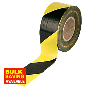 Barrier Tape Black / Yellow 75mm x 500m