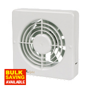 Manrose MG150BS 20W Long Life Axial Bathroom Extractor Fan