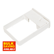 White Square Line Easyfit Clips Pack of 10