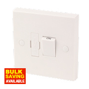 13A Switched Fused Connection Unit Spur White