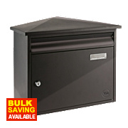 Yale Texas Post Box Black Satin Steel