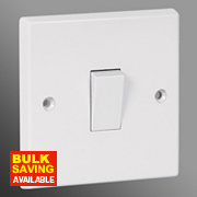 Volex 10AX 1-Gang 2-Way Switch Moulded White
