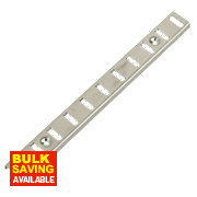 Bookcase Strips Nickel-Plated 16mm x 1m Pack of 10