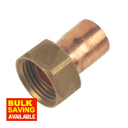 Flomasta End Feed Straight Tap Connector 15mm x ½""