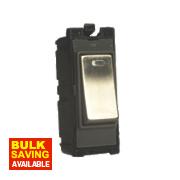 Varilight Z2DG201DNS 20A Double Pole Switch Metal & Neon