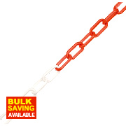 JSP Plastic Barrier Chain 5m x 6mm White & Red