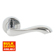 Jedo Chloe Lever on Rose Door Handle Pack Polished Chrome