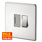 Crabtree 13A Switched FCU White Insert Brushed Chrome